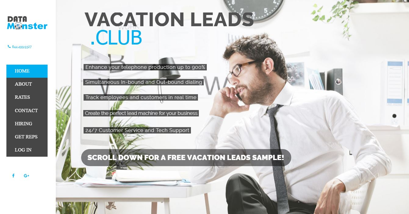 data monster vacation leads club